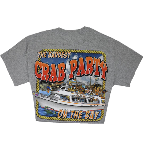 Light Gray Crab & Cruise® Baddest on the Bay T-Shirt