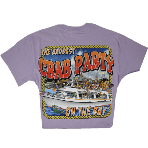 Orchid Crab & Cruise® Baddest on the Bay T-Shirt